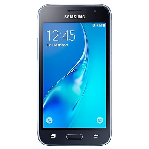 Смартфон Samsung Galaxy J1 (2016) SM-J120F/DS черный (SM-J120FZKDSER) смартфон samsung galaxy s8 sm g950f 64gb жёлтый топаз