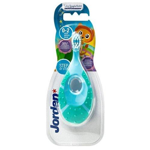 Купить Зубная щетка Jordan Step by Step 0-2, зеленый/голубой, Гигиена полости рта