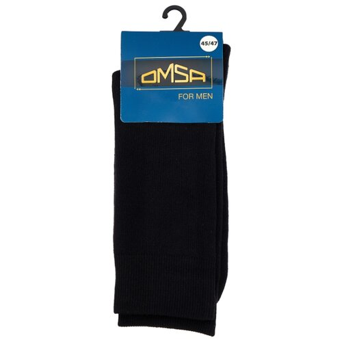 Носки Omsa Comfort 304, размер 45-47, nero носки мужские griff comfort aloe vera цвет светло серый m1 размер 45 47