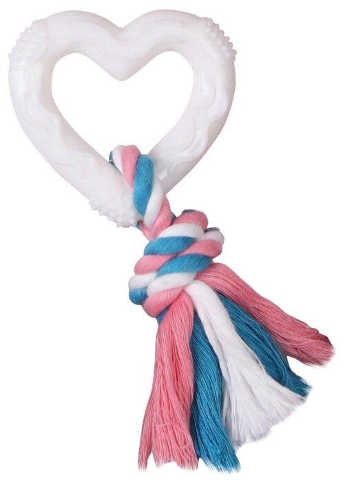 Игрушка для собак DEZZIE Сердце с веревкой