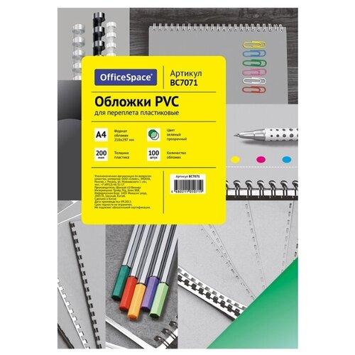 Фото - Обложка OfficeSpace PVC пластиковые А4 зеленый прозрачный 100 шт. лобзик metabo sta18ltx100 601002890