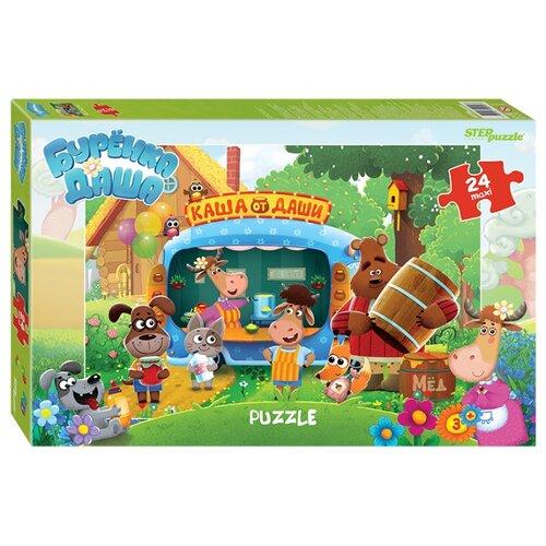 Пазл Step puzzle макси Буренка Даша (90054), 24 дет. пазл step puzzle maxi даша путешественница 90050 24 дет