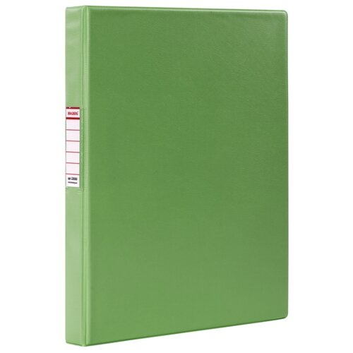 Купить BRAUBERG Папка на 2-х кольцах A4, картон/ПВХ, 35 мм лайм, Файлы и папки
