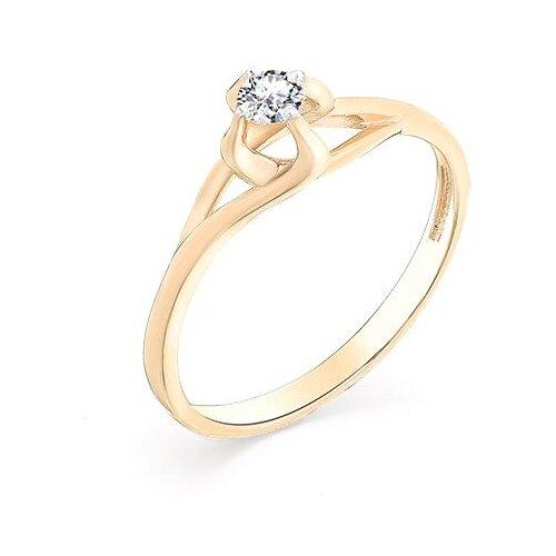 Мастер Бриллиант Кольцо с 1 бриллиантом из красного золота 1-107-201, размер 17.5