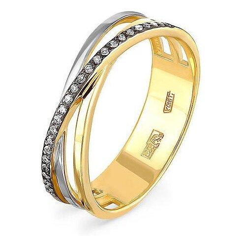 KABAROVSKY Кольцо с 25 бриллиантами из жёлтого золота 1-2467-1000, размер 16 фото