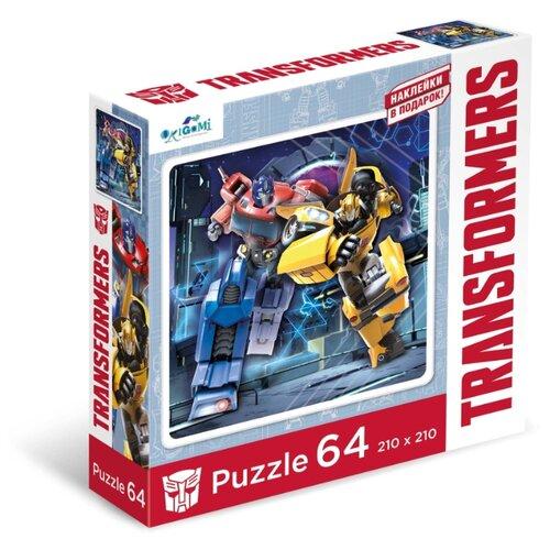 Купить Пазл Origami Трансформеры Автоботы + наклейки (04834), 64 дет., Пазлы