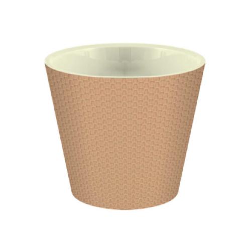 Кашпо InGreen Ajur ING6218, 16л, 33х30.5 см молочный шоколад