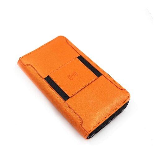 Бумажник с беспроводной зарядкой iWallet - Оранжевый