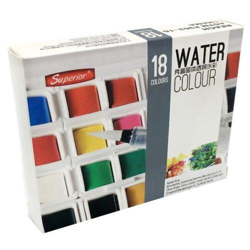 Superior Краски акварель 18 цветов (CA-19) disney акварель 18 цветов самолеты