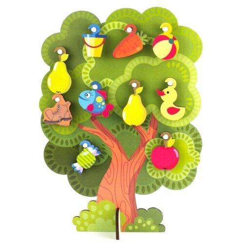 Купить Развивающая игрушка Woodland Что на дереве растет 124101 зеленый, Развитие мелкой моторики