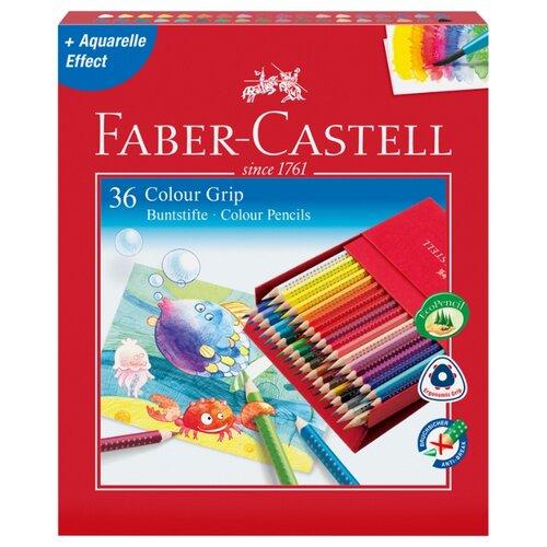 Faber-Castell Цветные карандаши Grip 2001 36 цветов (112436) faber castell ластик grip 2001 цвет синий
