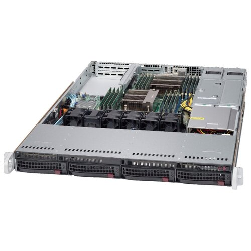Сервер Supermicro SuperServer 6018R-WTRT без процессора/без ОЗУ/без накопителей/количество отсеков 3.5 hot swap: 4/2 x 750 Вт/LAN 10 Гбит/c сервер supermicro superserver 5019s wr без процессора без озу без накопителей количество отсеков 3 5 hot swap 4 2 x 500 вт