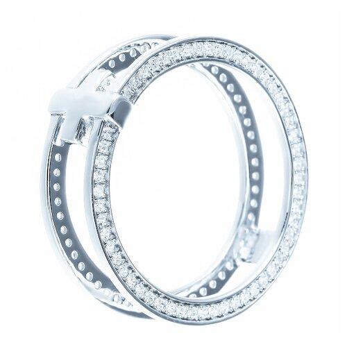 ELEMENT47 Кольцо из серебра 925 пробы с кубическим цирконием ML01686A_KO_001_WG, размер 17