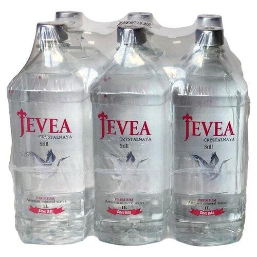 Вода минеральная Jevea Crystalnaya негазированная, ПЭТ, 6 шт. по 1 л