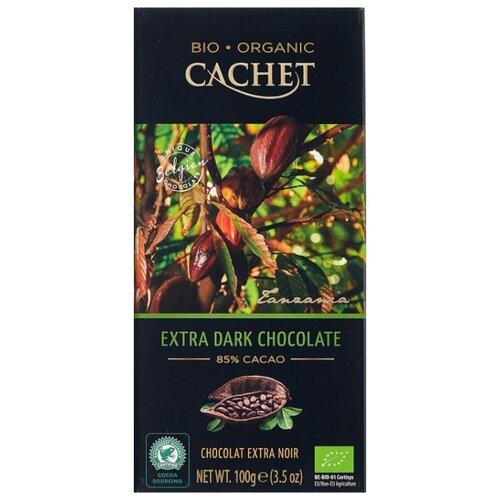 Шоколад Cachet горький, 85%, 100 г шоколад cachet bio organic элитный бельгийский горький 85% какао танзания 100 г