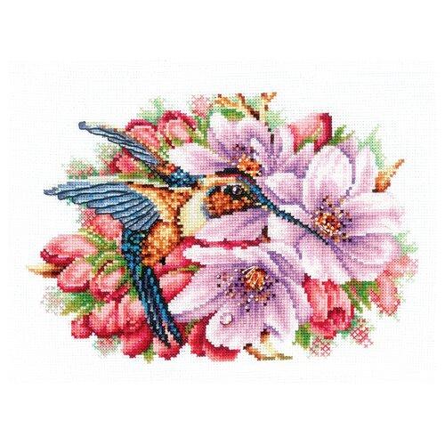 Купить Сделай своими руками Набор для вышивания Колибри в цветах 21 x 14.5 см (К-44), Наборы для вышивания