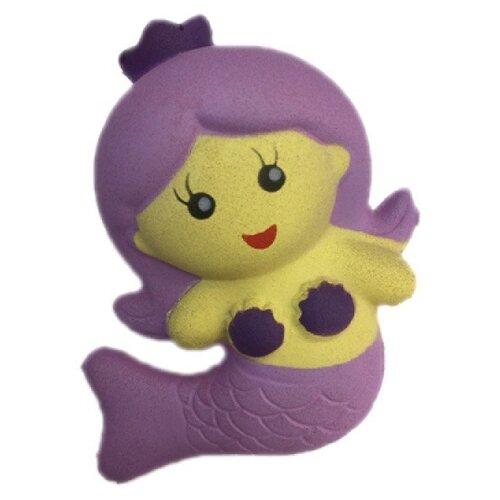 Игрушка-мялка 1 TOY Мммняшка Squishy Русалочка фиолетовый/желтый