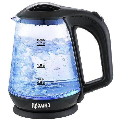 Чайник Яромир ЯР-1045, черный  - купить со скидкой