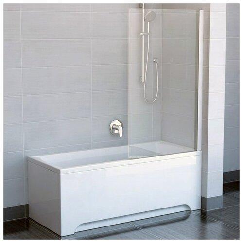 Фото - Шторка для ванны одноэлементная, поворотная Ravak CVS1 80 правая, профиль сатин, прозрачное стекло 7QR40U00Z1 шторка для ванны ravak chrome cvs1 80 l блестящая стекло transparent