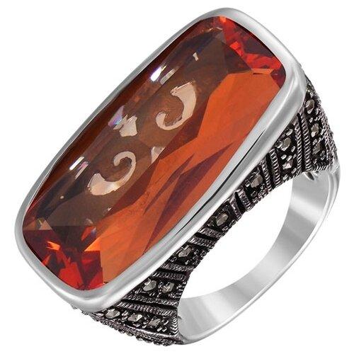 цена на JV Кольцо с марказитами и фианитом из серебра RGM7810-MZ-001-WG, размер 17.5