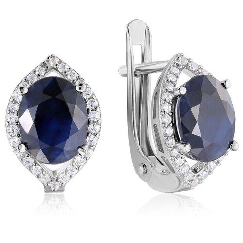 Бронницкий Ювелир Серьги из серебра E-DRGR00620-SP серебряное кольцо с корундом r drgr00620 sp