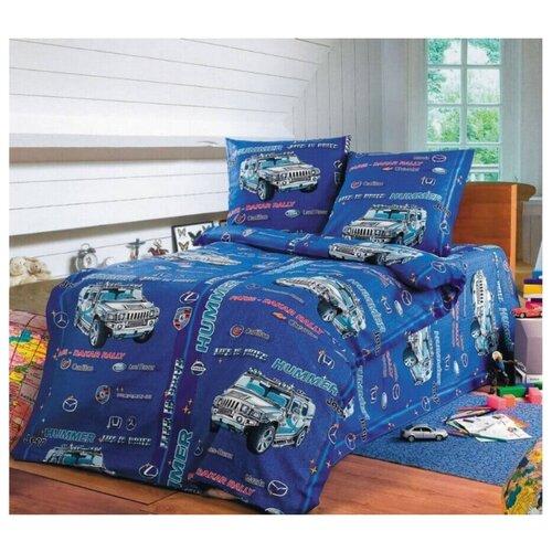 Постельное белье 1.5-спальное Toontex Хаммер синийКомплекты<br>