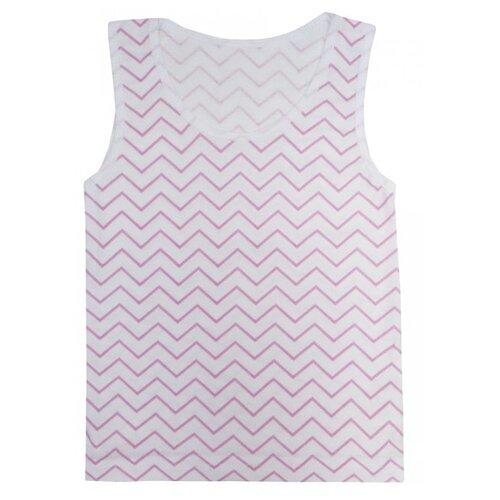 Купить Майка KotMarKot размер 128, белый/розовый, Белье и купальники