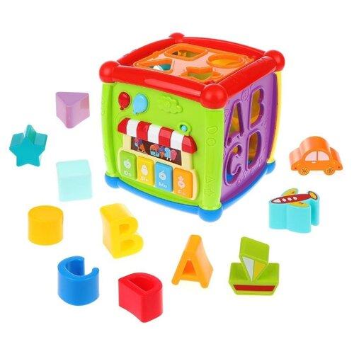 Купить Развивающая игрушка Huanger Fancy Cube HE0520 зеленый/фиолетовый/голубой, Развивающие игрушки