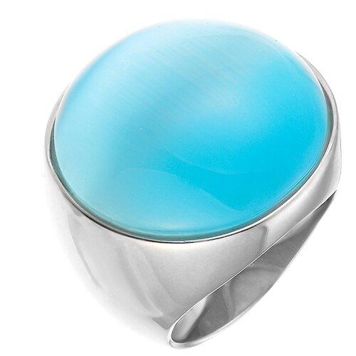 ELEMENT47 Кольцо из серебра 925 пробы с ювелирным стеклом SR0504_US_001_WG, размер 17.25