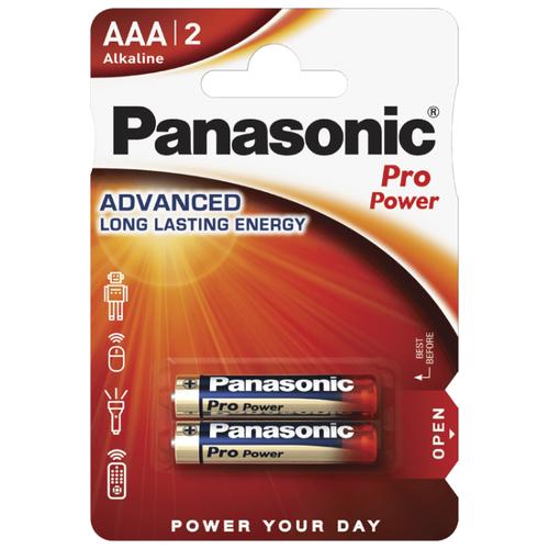 Фото - Батарейка Panasonic Pro Power AAA/LR03 2 шт блистер зимняя куртка факел охранник черная р 56 58 рост 170 176 50786000 010