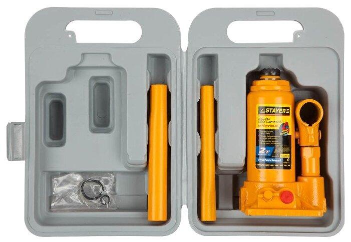 Домкрат бутылочный гидравлический STAYER 43160-2-K (2 т)