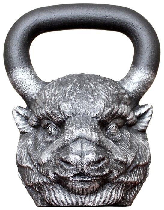 Гиря цельнолитая Iron Head Бизон 24 кг