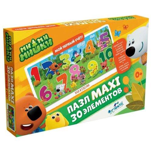 Пазл Origami Maxi МиМиМишки От 1 до 10 (05667), 30 дет. пазл origami мимимишки напольная азбука 4235 32 дет