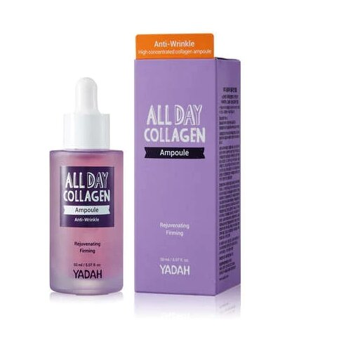 Yadah All Day Collagen Ampoule Коллагеновая сыворотка для лица, 50 мл lanbena silver silk collagen ampoule сыворотка для лица 15 мл
