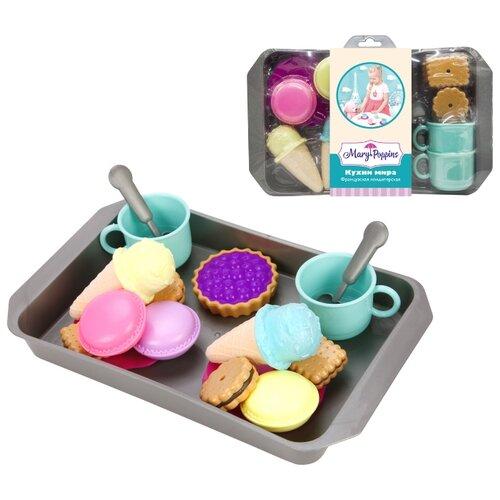цена Набор продуктов с посудой Mary Poppins Французская кондитерская 453137 голубой/серый/коричневый онлайн в 2017 году