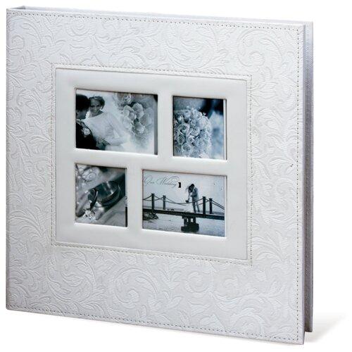цена на Фотоальбом BRAUBERG Свадебный под фактурную кожу (391128/391129/390691), 240 фото, белый