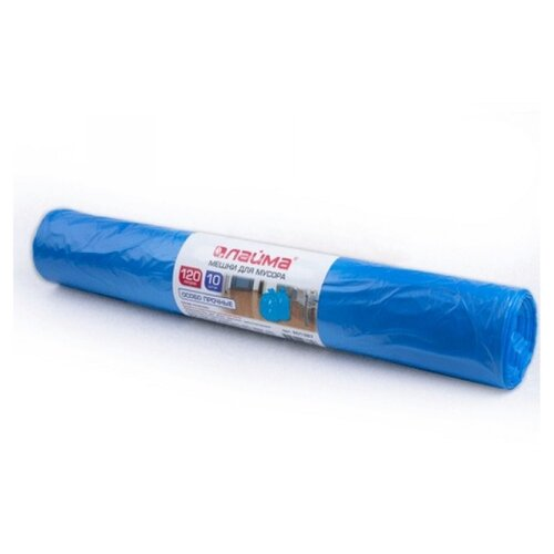 Мешки для мусора Лайма 120 л (10 шт.) синий