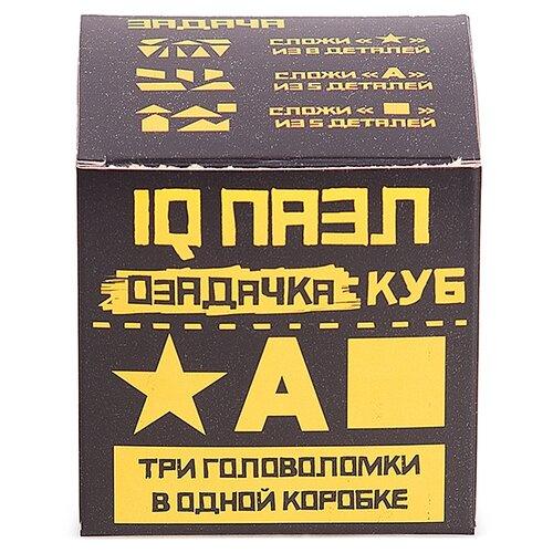 Набор головоломок Озадачка IQ ПАЗЛ тип Куб 4 (12631) 3 шт. оранжевый