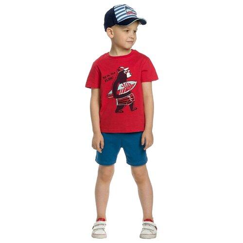 цена на Комплект одежды Pelican размер 2, красный/синий