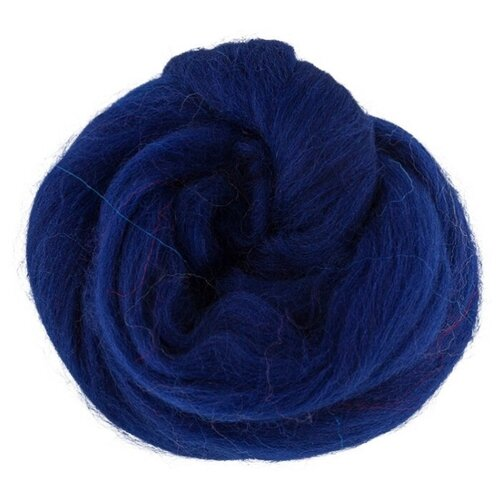 Gamma Шерсть для валяния 100% овечья полутонкая 50 г (TFS-050) 0100 темно-синий