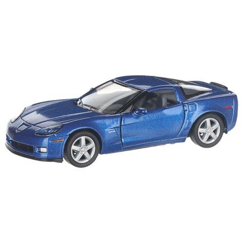 Купить Детская инерционная металлическая машинка с открывающимися дверями, модель Chevrolet Corvette Z06, синий, Serinity Toys, Машинки и техника