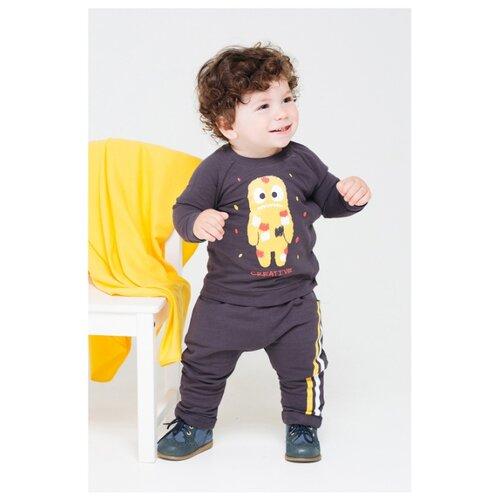 Купить Брюки crockid К 4716 размер 68, темно-серый, Брюки и шорты
