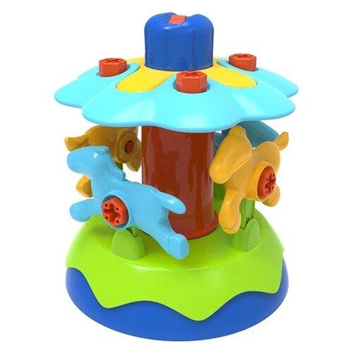 Купить Винтовой конструктор Edu Toys My First Engineering JS023 Карусель, Конструкторы