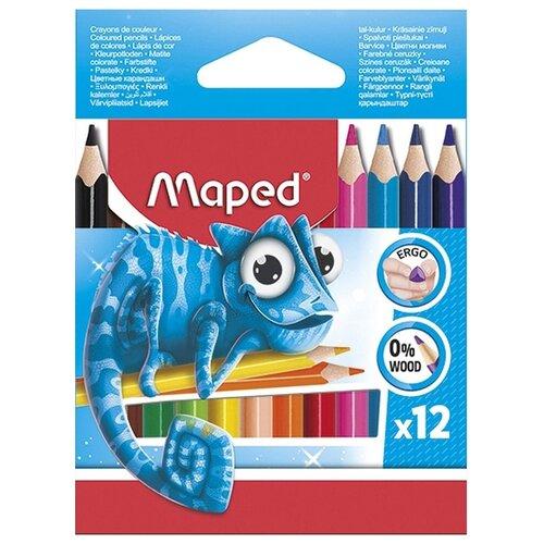 Maped Цветные карандаши Pulse Mini 12 цветов (832752)  - купить со скидкой