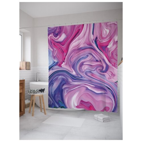 Штора для ванной JoyArty Смещение красок 180х200 (sc-207085) разноцветный