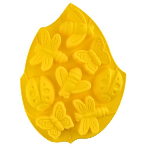 Форма для льда Pan-Cake Насекомые, 8 ячеек желтый
