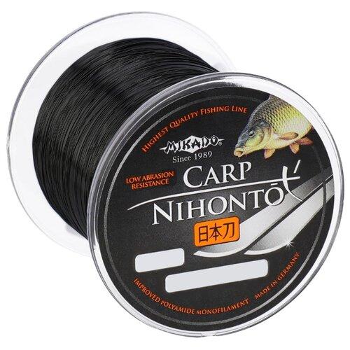 Монофильная леска MIKADO Nihonto Carp черный 0.22 мм 300 м 6.4 кг