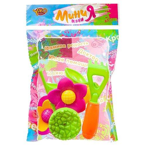 Купить Набор Yako Мини Мания Г93797 зеленый/желтый/оранжевый/розовый, Наборы в песочницу