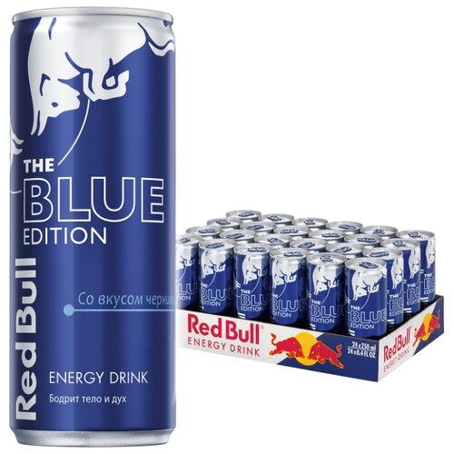 Энергетический напиток Red Bull Blue edition, 0.25 л, 24 шт.