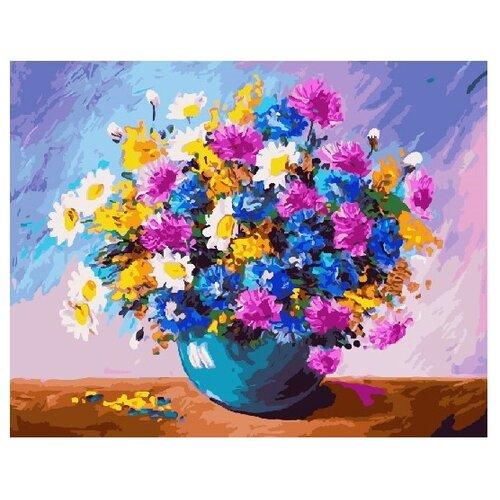 """ВанГогВоМне Картина по номерам """"Цветной полевой букет"""", 40х50 см (ZX 22319)"""